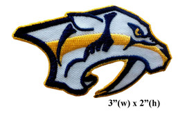 "Nashville Predators Logo Size 3"" Embroidered Iron On Patch. - $1.20"