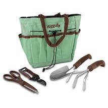 Gardening Tools, Blooms Teal Canvas 5-piece Garden Bag Gardening Tool Set - £17.36 GBP