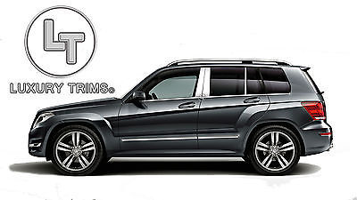 2013-2015 BMW X-1 6Pc Chrome Pillar Post Stainless Steel Trim Door Cover