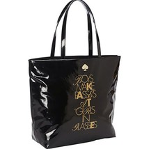 $228 Kate Spade Black Patern Required Reading Bon Shopper  PXRU4507 Bag ... - $68.99