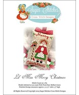 Lil' Miss Merry Christmas christmas cross stitc... - $6.00