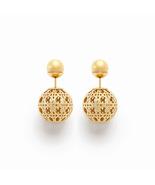 AUTHENTIC Christian Dior Classic Mise En Dior Cannage Tribal Pearl Earri... - $429.99