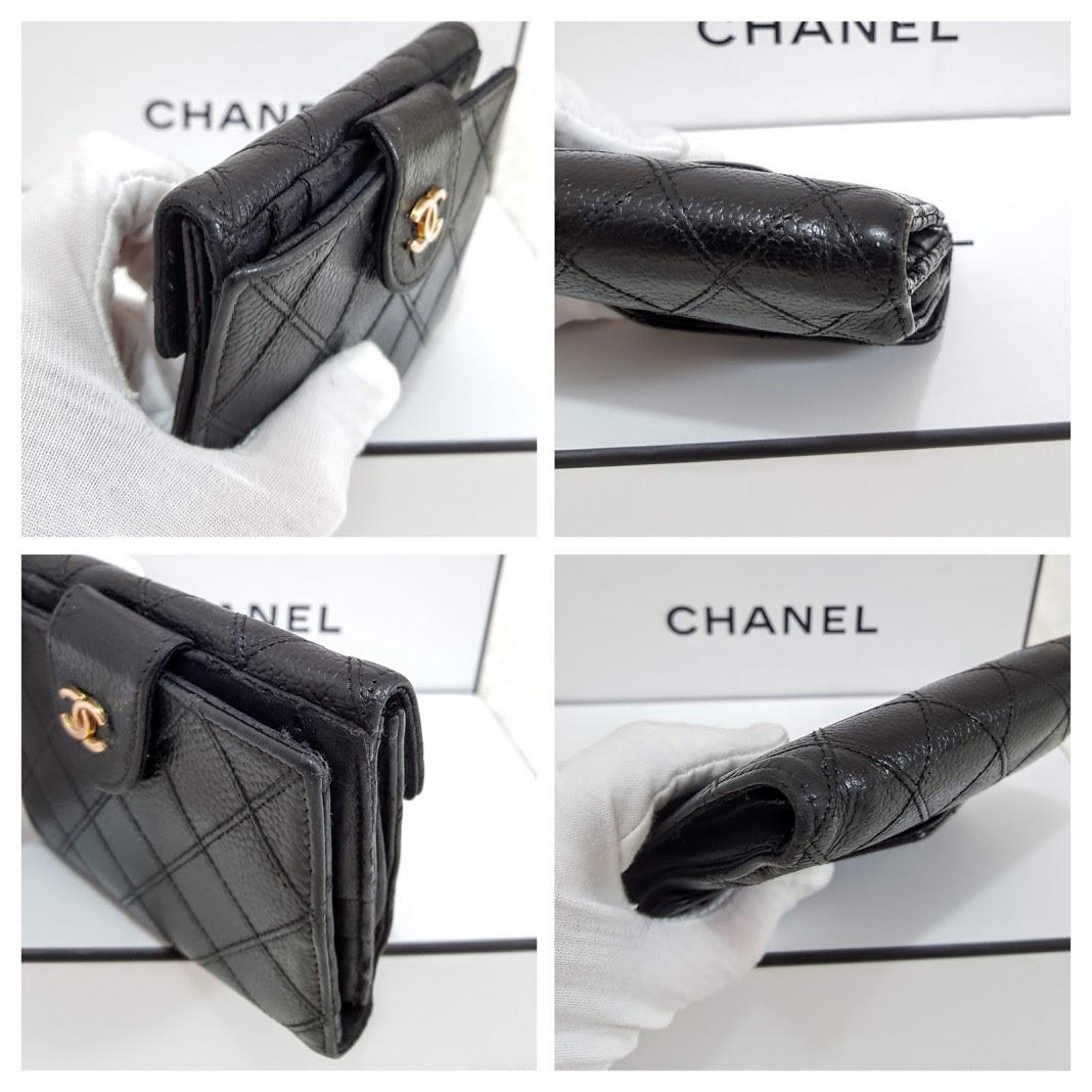 Auth Chanel Diamond Stitch Gold CC Caviar 2 in 1 Wallet Mini WOC Crossbody Bag image 9