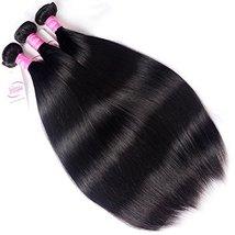 """Mink 8A Brazilian Virgin Hair Straight Remy Human Hair 3 Bundles Deals 12"""" 14"""" 1 image 4"""