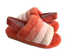 UGG FLUFF YEAH SLIDE LAVA FLOW MULTI MOCASSIN SLIP ON SANDAL US 9 / EU 4... - $135.58