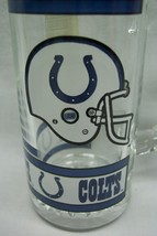 """Vintage Indianapolis Colts Nfl Football 5"""" Collector's Glass Beer Mug Handle New - $19.80"""