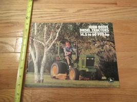 John Deere Tractors Diesel 14.5 to 60 HP Vintage Dealer sales brochure - $13.99