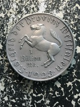 1923 Alemania Westphalia Notgeld 1 Billion Marco Massive Plateada Bronce... - $743.87