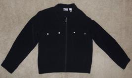 Chico's Sz 1 Black Long-Sleeve Jacket Zip-Up Top Womens - $22.19
