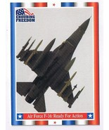 Enduring Freedom Picture Card #82 9-11 Air Force F-16 Ready Action Topps... - $0.94