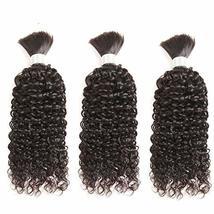 Deep Curly Braiding Human Hair Bulk Mongolian Remy Hair Weaving No Weft Kinky Cu - $78.21