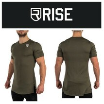 Rise LEVEL T-SHIRT ARMY GREEN workout performance - $44.55