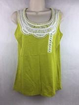 Lizwear Women's Green Sleeveless Top Size S - $14.84