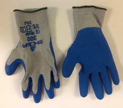 Showa 300 Gloves , Gray/Blue , Size S - $10.88