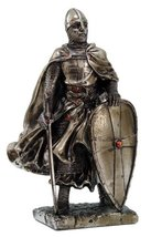 """MEDIEVAL KNIGHT 7"""" TALL CRUSADER TEMPLAR GUARD STATUE FIGURINE SUIT OF A... - $24.74"""