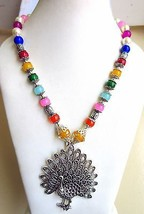 Indian Bollywood Oxidized Pearls Necklaces & Pendants Women's Fashion Jewelry image 2