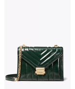 MICHAEL KORS WHITNEY QUILTED LARGE LEATHER SHOULDER BAG GREEN -  275.00 9d0d14aa3927b