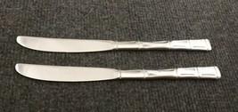"""Bamboo by Sunshine Set of 2 Glossy Stainless Dinner Knives 8 3/4""""  Korea - $12.95"""