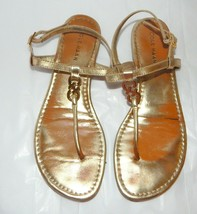 Cole Haan Slingback Thong Sandals Gold Leather Womens sz 8 - $12.86