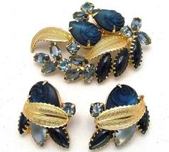 Juliana Style Vintage Brooch & Earrings Carved ... - $49.95