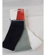 Vidal Sassoon VS Pro Series Thermal Knit Headwrap Headband 3 Pk Black Gr... - $9.89