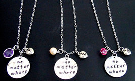No matter where necklace initial necklace long distance personalized jew... - $48.00