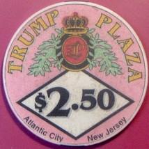 $2.50 Casino Chip. Trump Plaza, Atlantic City, NJ. W05. - $4.99