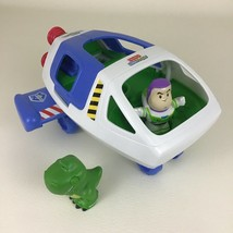Fisher Price Little People Toy Story Buzz Lightyear Spaceship w Rex Figu... - $37.57