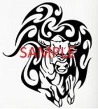 Bull and Flames Cross Stitch Chart - $8.00