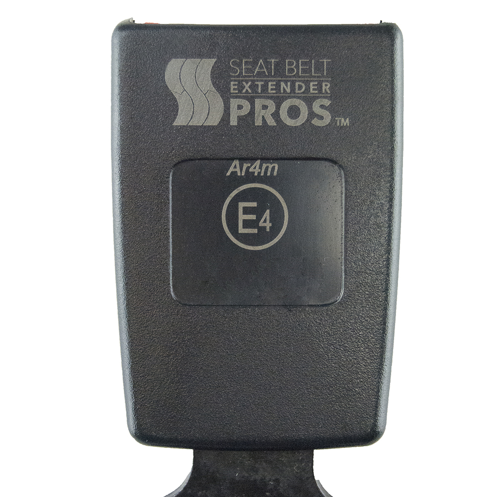 """Ford Focus Seat Belt Extension Adds 5/"""" Rigid Black E4 Safety Certified"""