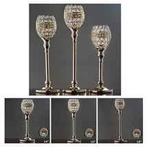 Gold Crystal Candle Holder Goblet Wedding Chandelier Centerpiece 2PCS TkFavort ( - $79.20