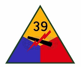 US Army 39th Armored Division 12'' Sticker Military - $24.74