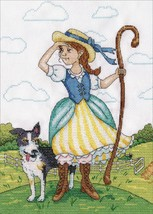 "Design Works Counted Cross Stitch Kit 9""X12""-Little Bo Peep - $16.95"
