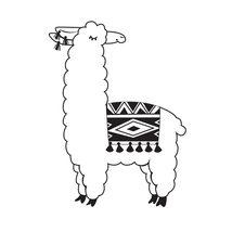 Llama Embossing Folder.  Darice image 1