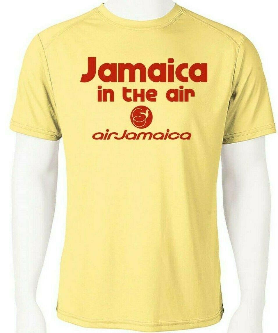 Air jamaica dri fit graphic tshirt moisture wicking spf raggae rasta airline tee