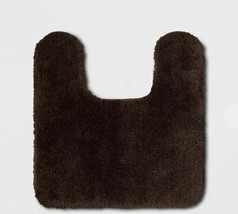 Threshold - Performance Nylon Contour Dark Brown Bath Rug image 1