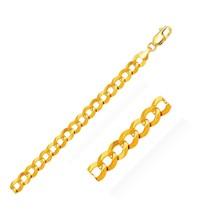 8.2mm 10k Yellow Gold Curb Bracelet Quality Jewelry Unique Stylish - $938.25
