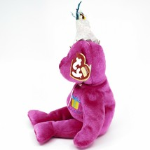 2002 Ty Birthday Beanie Baby January the Pink Teddy Bear Beanbag Plush Toy image 2
