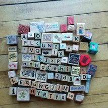 Large lot stamps wood block foam other - $19.45