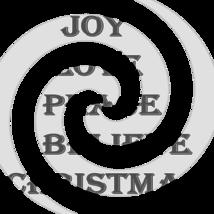 Joy Love Peace Believe Christmas Font 3smp-Digital ClipArt-Tshirt-Jewelry - $3.99