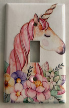 Unicorn Flower Light Switch Outlet Toggle & more Wall Cover Plate for Home decor image 1