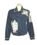 VTG Levis USA Denim Jean Jacket Trucker Coat Mens 50 Embellish Women Plu... - $49.95