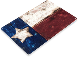Tin Sign Americana Rustic Texas Flag TB010 - $14.95+