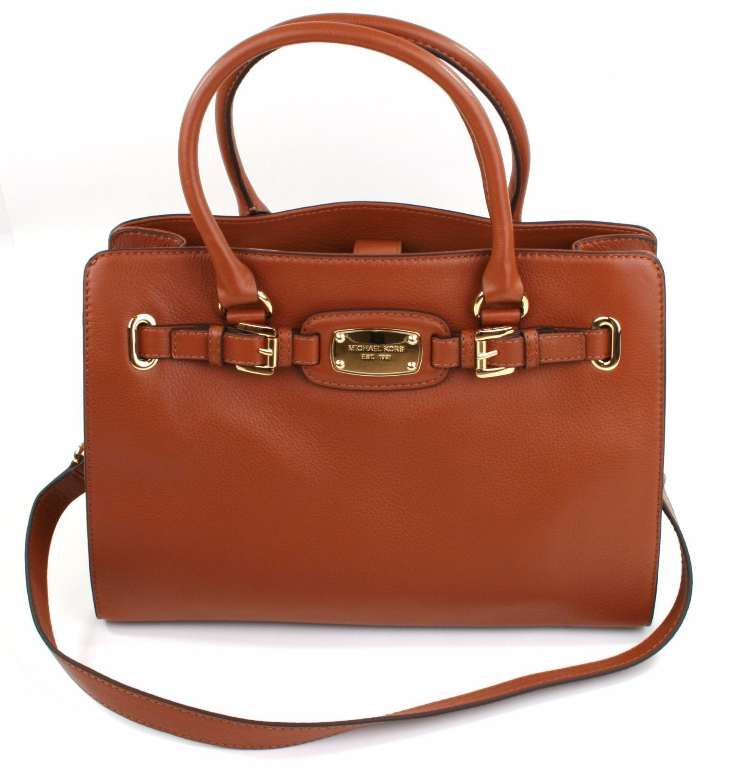 5262465bbb1e 57. 57. Previous. Michael Kors Hamilton Tan Brown Leather Tote Tech Bag  Large Handbag · Michael Kors ...