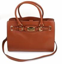 Michael Kors Hamilton Tan Brown Leather Tote Tech Bag Large Handbag - $336.11