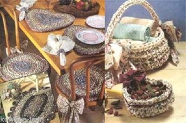Rag crochet patterns: learn to make rag rugs, baskets, placemats, chairpads - $11.51