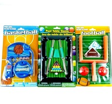 Lot of 3 Desk Top Sports Toy Games Football Basketball Pool Office Novel... - €15,94 EUR