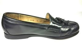 COLE HAAN Men's Loafers 9 D Leather Black Pinch Tassel Slip On Dress Shoes image 4