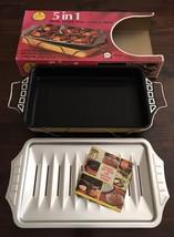 Vintage NORDIC WARE 5 in 1 Lasagna dish broil/roast/cook/bake original b... - €40,67 EUR