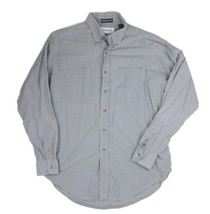 Madrigal Mens Size Large Blue Gingham Plaid Oxford Collar Button Front L... - $18.80